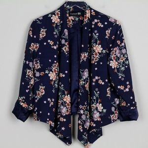 Forever 21 Blazer Jacket Asymmetrical Open Front